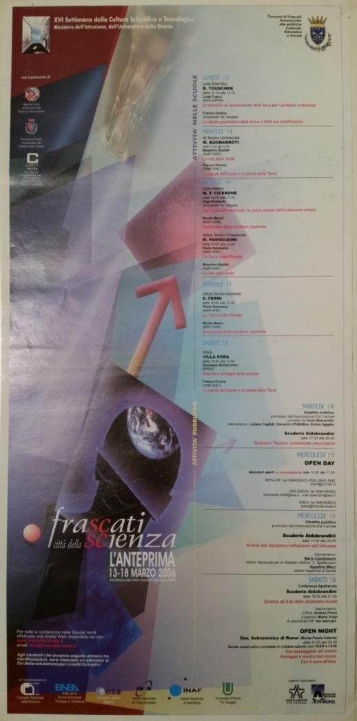 2006 - Anteprima di FrascatiScienza, di cui ATA è socio fondatore