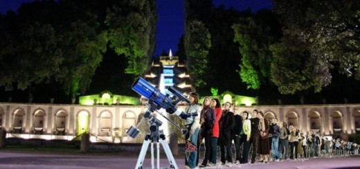 Star party con telescopi e planetario